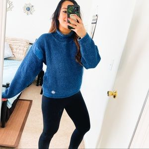 Blue Willi's mock neck knit sweater